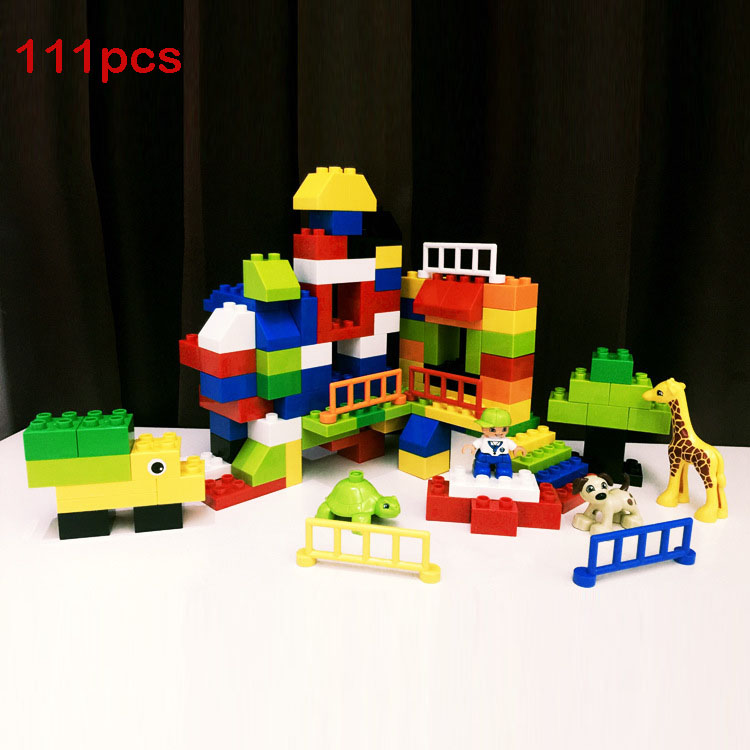 Large Building Block compatible Duplo Garden and Animal Zoo Classic Piece Big Dot Brick Toy Accessory Bricklink umeile brand farm life series large particles diy brick building big blocks kids education toy diy block compatible with duplo