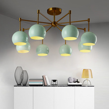 Nordic Postmodern Simple Living Room Ceiling Light Art Creative Personality Atmosphere Iron Restaurant Bedroom American Lamp