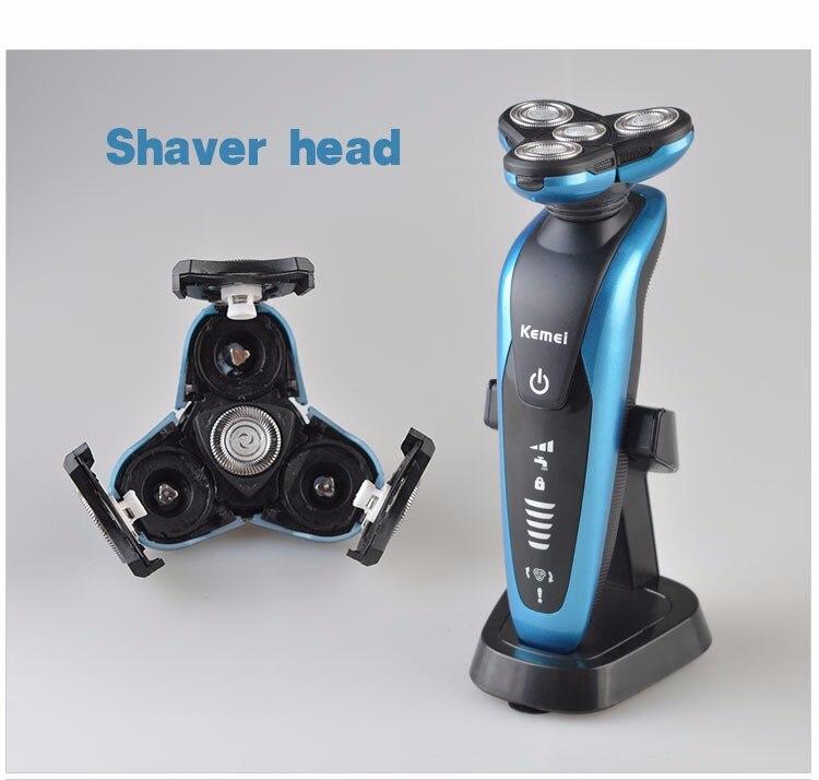 brand kemei 3 in1 washable electric shaver rasoir electrique homme triple blade shaver for men
