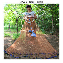 Lawaia Fishing Nets Eco Throw Network American Style Hand Cast Multifilament Line Fly Catch Net
