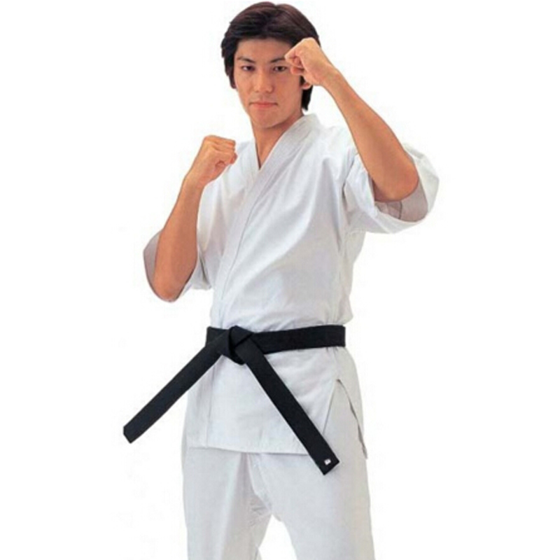 Free Shipping  Karate Uniform White Twill Ultra-high Contain Cotton Karate Training Suit High Quality For Children And Adult