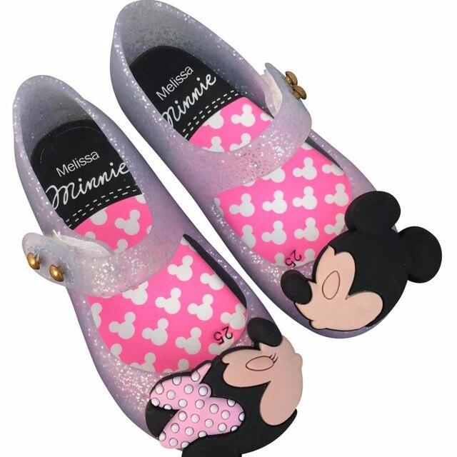 715f57edf 2019 Melissa Sapatos de Mickey & Minnie Crianças Meninas Sandálias de  Cristal Sapatos de Geléia Crianças
