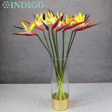 9pcs/Lot Red Bird Of Paradise Foam Real Touch Flower Waterproof Decorative Artificial Wedding Party Free Shipping