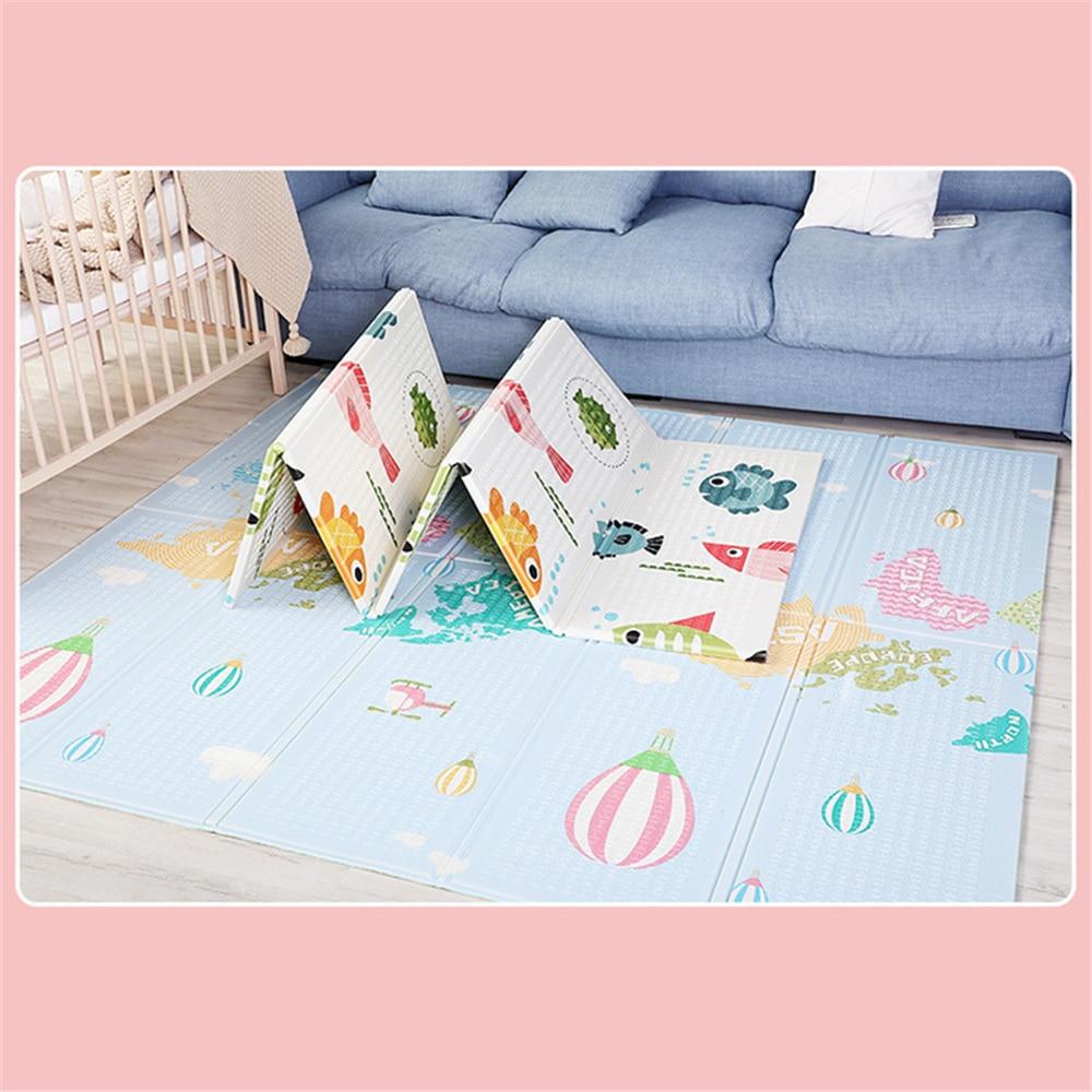 180*200*1 cm bébé ramper tapis de jeu Puzzle tapis de jeu jeu Double impression XPE tapis de mousse épaissir bébé ramper Pad enfant en bas âge