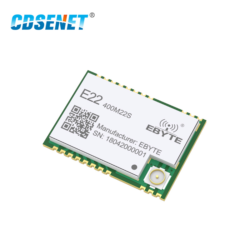 SX1268 LoRa largo alcance transceptor 410 MHz-493 MHz CDSENET E22-400M22S 433 Mhz SMD transmisor y receptor 433 MHz módulo rf