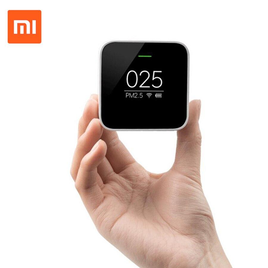 Оригинал Сяо mi PM2.5 детектор Сенсор mi PM 2,5 детектор воздуха Портативный OLED Экран Wi-Fi 2,4 ГГц мониторинга высокоточный лазерный