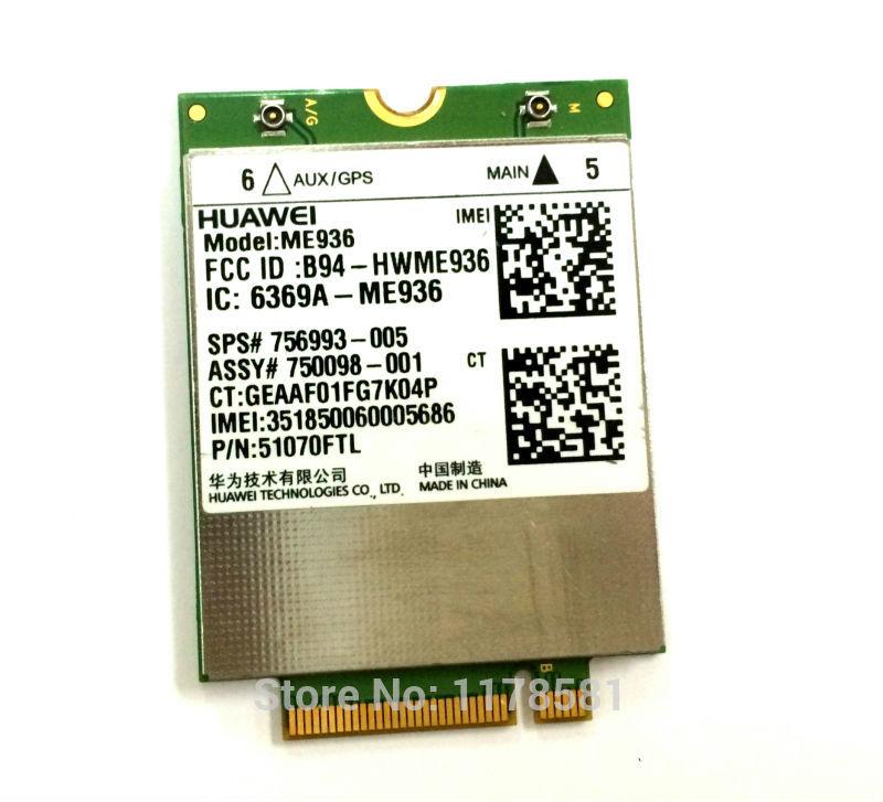 SSEA Wholesales New for HUAWEI ME936 4G LTE Modules WCDMA/HSDPA/HSUPA/HSPA+ GPRS/EDGE NGFF card for HP SPS:756993-005 huawei me936 4 g lte module ngff wcdma quad band edge gprs gsm penta band dc hspa hsp wwan card