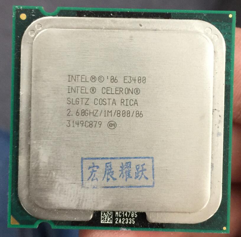 Intel  Pentium  Processor E3400   Dual-Core  CPU LGA 775  100% Working Properly Desktop Processor