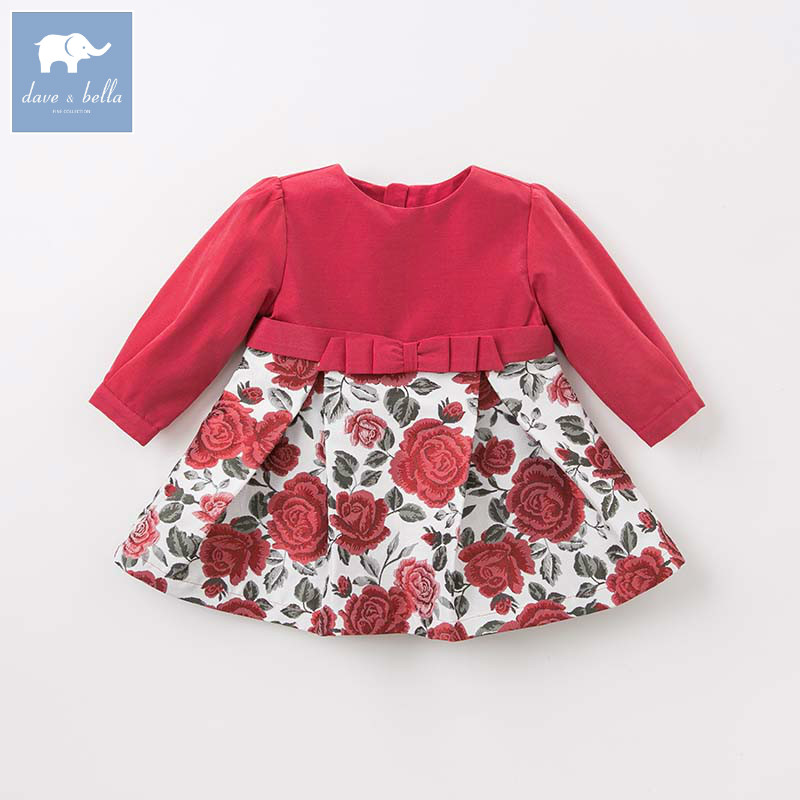 DB8517 dave bella baby Princess floral dresses girls wedding party birthday dress children boutique lolital long sleeve dress dbm7590 dave bella summer infant baby girl s princess floral dress children birthday party wedding dress kids lolital clothes