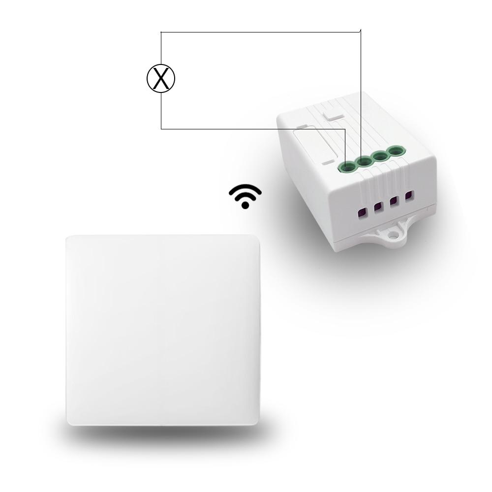 Domotique sans fil interrupteur marche/arrêt sans batterie et récepteur fonctionne avec Alexa Google accueil variateur de contrôle minuterie contrôle