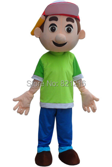 New Arrival Handy Manny Mascot Costume Tool Boy Mascot Costume Free Shipping