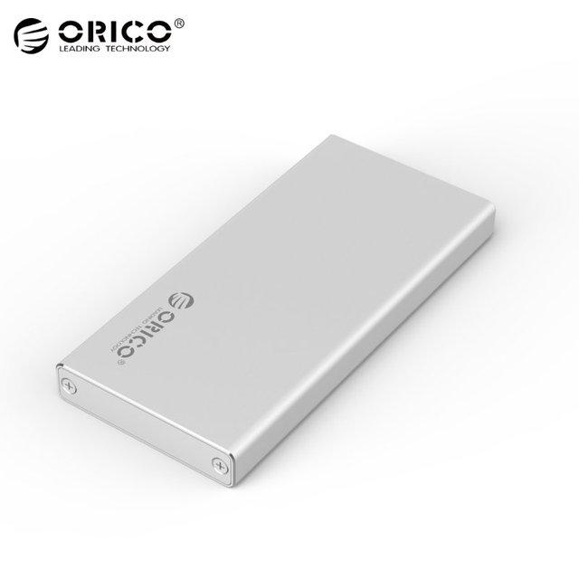 Original ORICO MSA-U3 USB 3.0 2.5 Inch mSATA Hard Drive External Enclosure Aluminum For M-SATA SSD High Speed