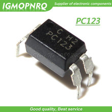 10pcs/lot PC123 DIP-4 optical isolator - transistor / optoelectronic output New Original Free Shipping