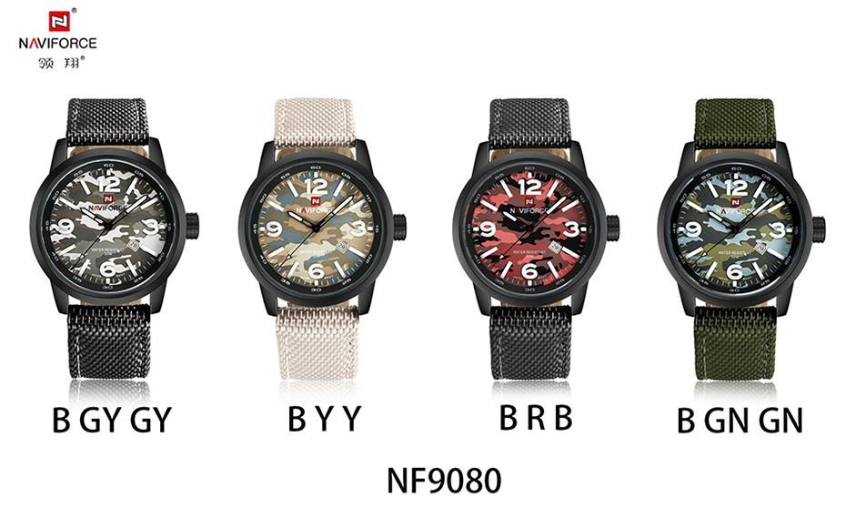 2017 Nouveau NAVIFORCE Hommes Quartz Sport Militaire Montres Hommes De Luxe de Marque De Mode Casual Montre-Bracelet Relogio Masculino Homme Horloge 19
