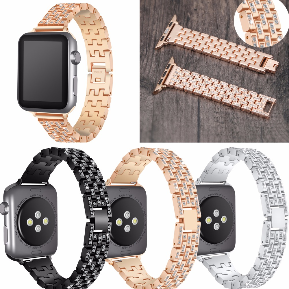 Joyozy Stainless Steel Watch band Strap for apple watch 42 mm 38 mm link bracelet Replacement Watchband for iwatch serise 1 2 3 eache silicone watch band strap replacement watch band can fit for swatch 17mm 19mm men women