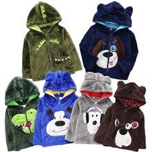 Girls Hoodies Sweatshirt Dinosaur Jacket Coat Top-Rabbit Baby-Boy Kids Velvet Winter