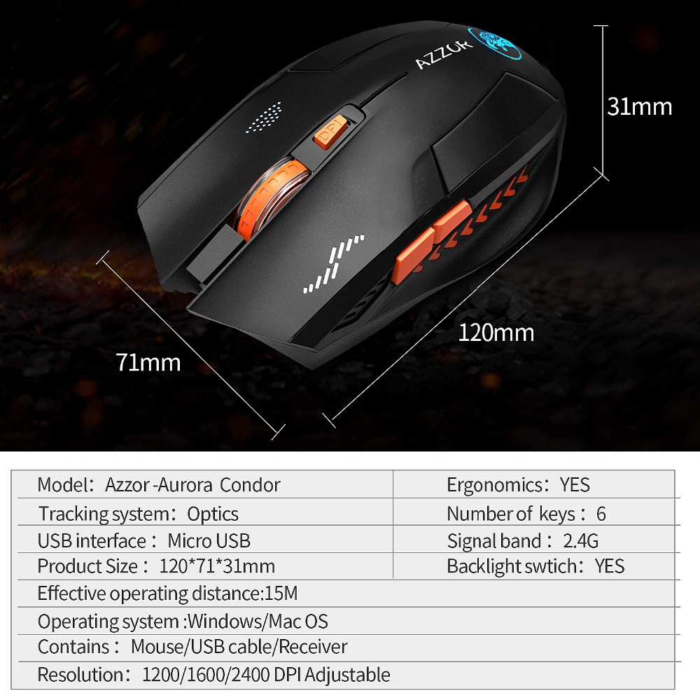 Image 5 - Wireless Mouse Optical Mouse Gaming Silent usb rechargeable Mice  2400dpi Built in Battery For PC Laptop Computer Noiseless-in Mice from  Computer