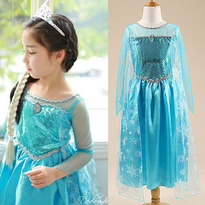 Baby Girl Princess Dress for Girls Clothing Wear Cosplay Costume Halloween Christmas Party Dress(China)