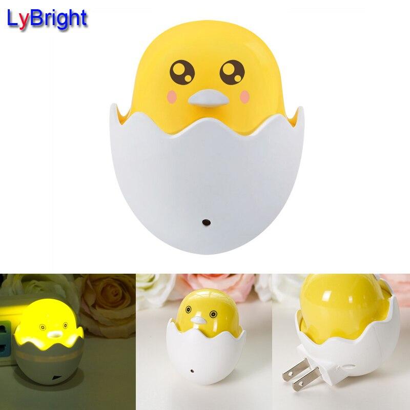 Us Stecker Glücklich Vogel Nachtlicht Ac 110 240 V Eingebaute  Lichtsensorsteuerung Schlafzimmer Baby Nachttischlampe Küken U0026 Ei .