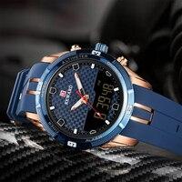 보상 남자 스포츠 시계 망 아날로그 led 디지털 쿼츠 시계 남자 자동 날짜 시계 남성 군사 방수 손목 시계