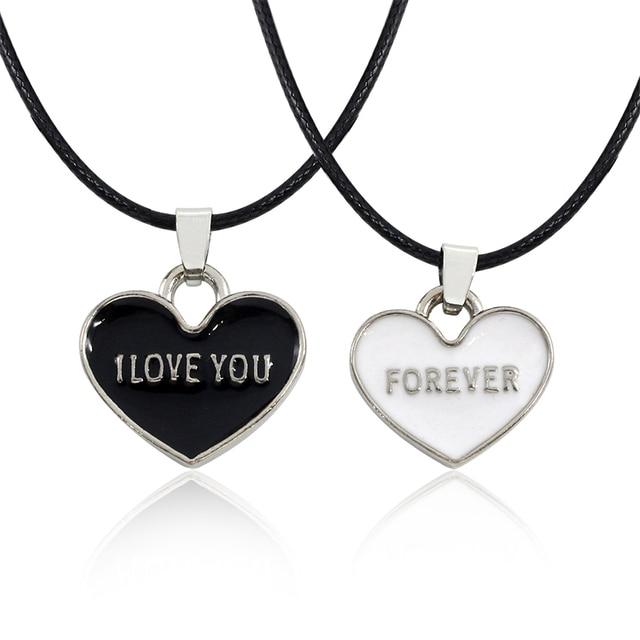 Nuevos Amantes Collar De La Joyería 2 Unidset Te Amo Para Siempre