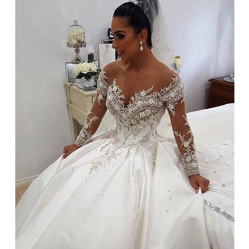 2017 New Hot Sexy Off Shoulder Lace Appliques Long Sleeve