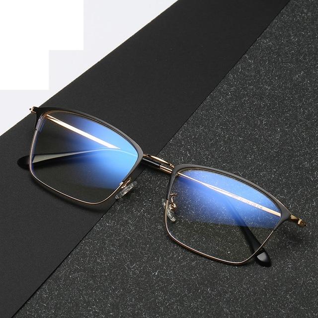Titanium Alloy Glasses Frame Men Ultralight Women Vintage Prescription Eyeglasses Anti blue Ray Optical Frame  Eyewear 9007