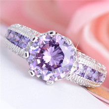 top quality silver ring with zircon beautiful party jewelry perfect romantic Valentine's Day gift factory price