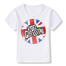 Boys & Girls Print Punk Rock Sex Pistols T shirt