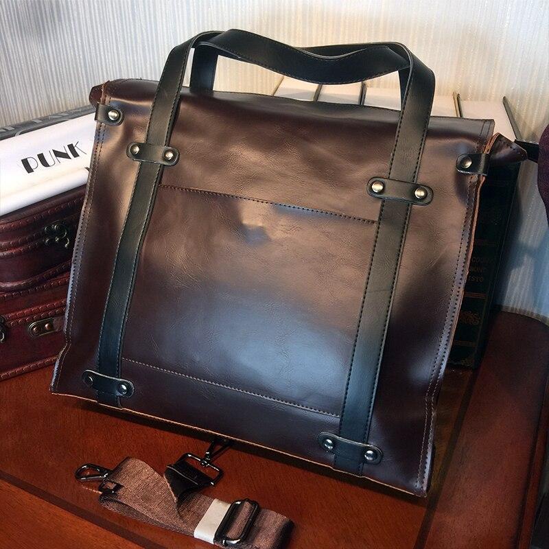 ETONWEAG Brands Leather Luxury Handbags Women Bags Designer Brown Vintage Messenger Bags Business Style Laptop Ladies Hand Bags