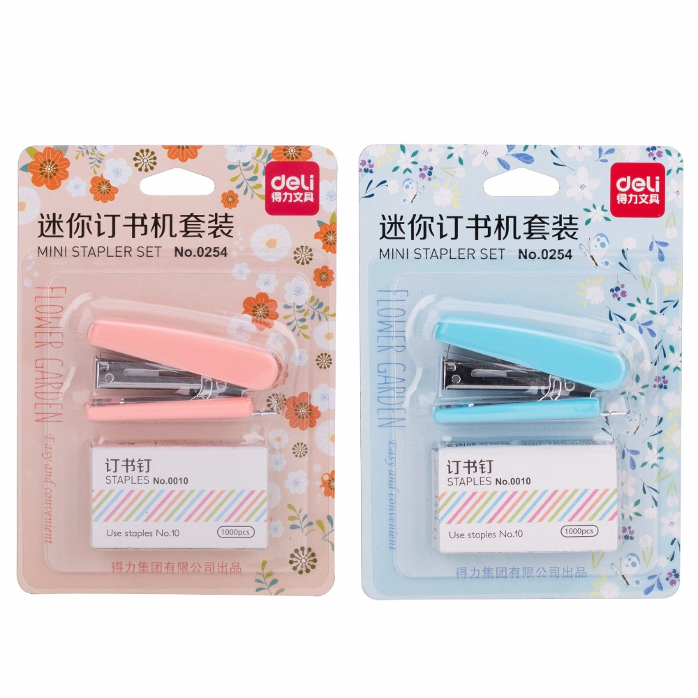 Flower Garden Stapler Set Mini 10# Manual Staplers With 1000pcs Staples Stationery Office School Supplies Material Escolar F509