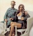1:35 oficial Alemão com lady dois figura set