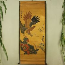 China Antique collection Calligraphy and painting eagle diagram
