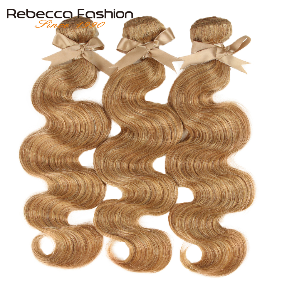 Rebecca 27/30 paquets corps vague brésilienne cheveux armure faisceaux 100% Remy Extensions de cheveux humains 3/4 paquets 10 à 26 pouces