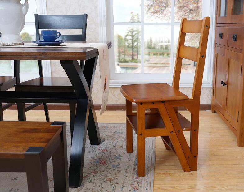 Phenomenal Wooden Folding Library Ladder Chair Kitchen Furniture Step Beatyapartments Chair Design Images Beatyapartmentscom