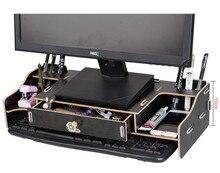 Новый стол хранения древесины DIY увеличить компьютер Дисплей клавиатура размещение стол организатор профилактика шейного спондилез