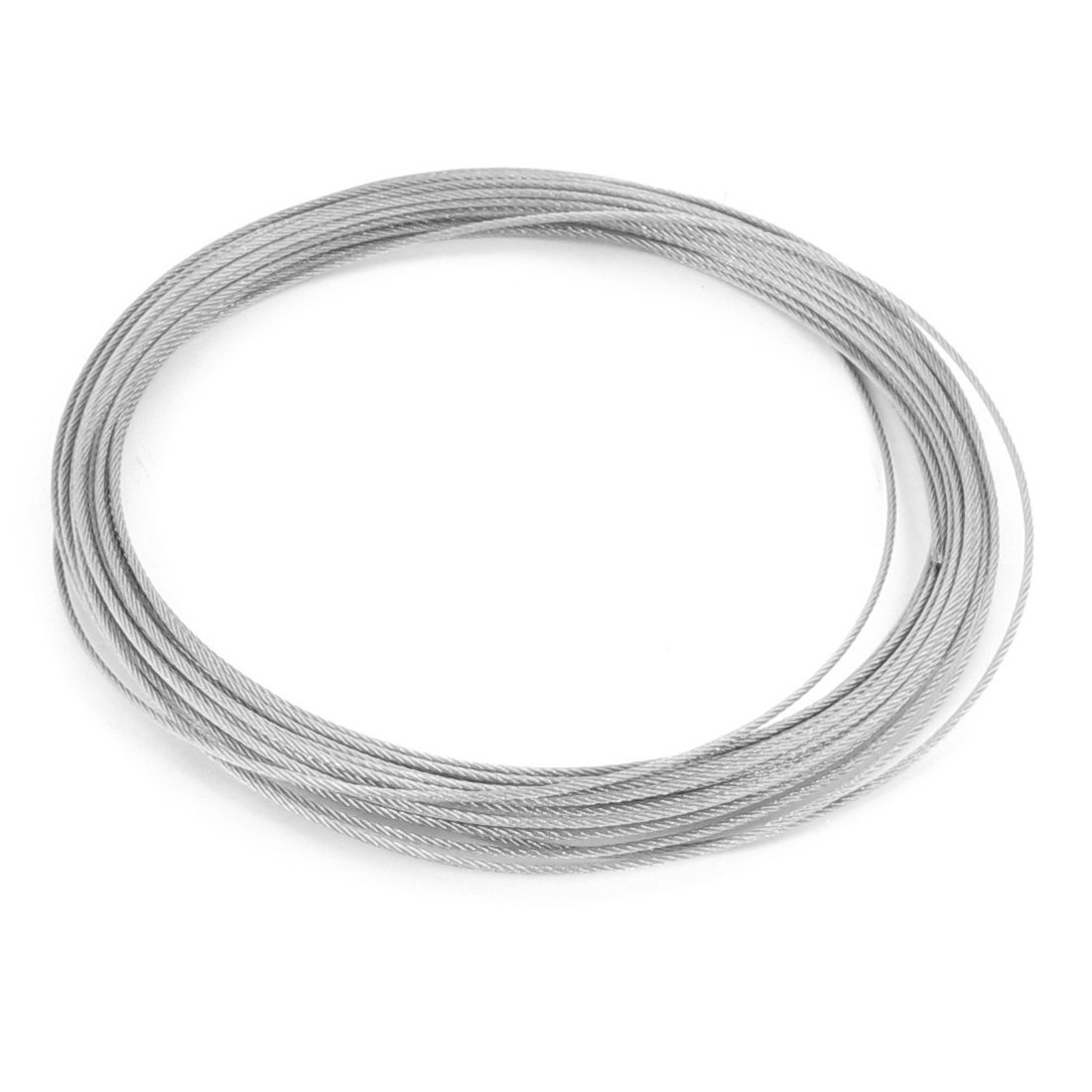 Hoisting 7x7 1.2mm Diameter Stainless Steel Flexible Wire Rope 32.8Ft