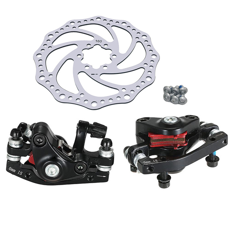 Bicycle Brake Set Aluminum Alloy Mountain MTB Bike Rotor Folding Machine Front Rear Disc Brake Set Bike Parts 160mm bike road bicycle alloy mechanical disc brake set rear include 160mm centerline rotor 2 brake calipers 2 g3 disc rotors