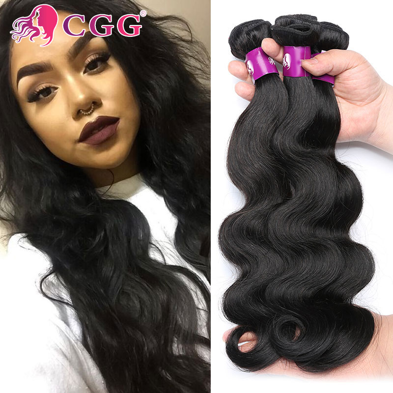 CGG Human Hair Weave 4 Bundles Real Brazilian Virgin Good Aliexpress Body Wave - Factory store
