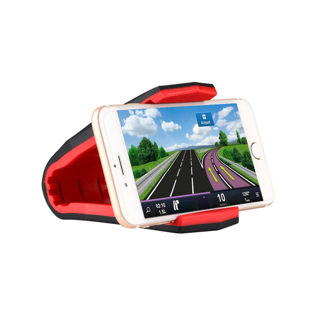 ET Car Phone Holder Alligator Clip Cell Phone Holders Dashboard Phone Stand Holder Anti Slip GPS Bracket for iPhone 6 7 8 Plus
