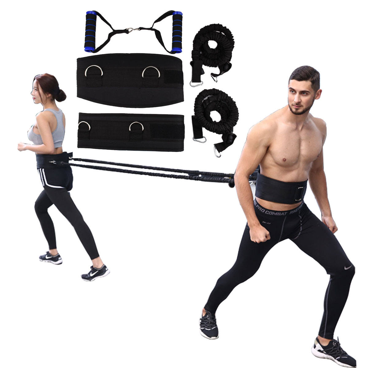 Resistance Bands Waist Running Jump String Exercise For Basketball Football crossfit Strength Training Speed Agility Pull Rope
