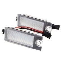 2 шт. автомобиля 18 светодио дный поворотника белый номерной знак лампа для Volvo S80 1999-2006 V70 XC70 S60 XC90 аксессуары