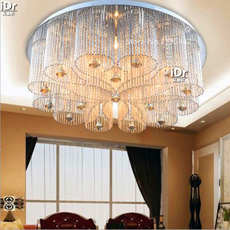 Lamps Factory Wholesale Led Lights Round The Living Room Lamp Bedroom Crystal Lighting Low Voltage Ceiling Rmy 0338