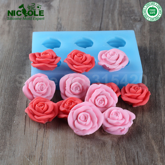 Nicole R0932 Custom Silicone Soap Moldshomemade Flower Shaped