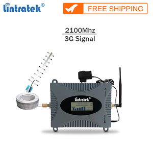 Image 1 - Lintratek חדש משחזר 3g 2100Mhz celular אות booster gsm 3G נייד אות מגבר נייד מהדר מלא קיט עם LCD #65
