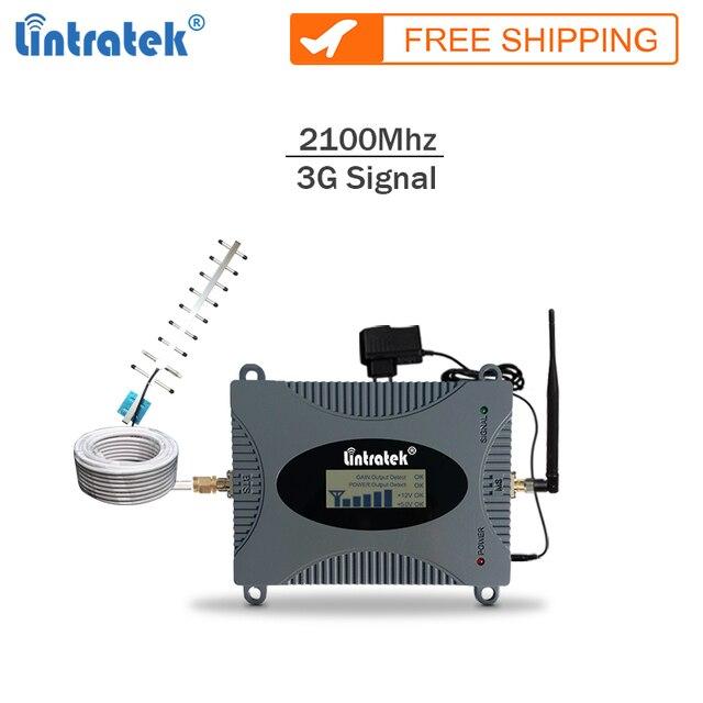 Lintratek חדש משחזר 3g 2100Mhz celular אות booster gsm 3G נייד אות מגבר נייד מהדר מלא קיט עם LCD #65