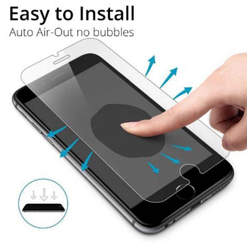 الزجاج المقسى ل فون XS XR XS ماكس واقي للشاشة غطاء ل فون 8X7 6 6 S زائد 5 5 S SE XS 6.1 6.5 5.8 بوصة 2019