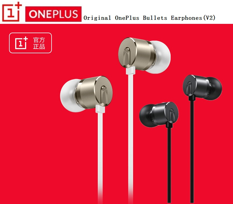 20pcslot, Original OnePlus Bullets Earphones V2 In-Ear Earphone headset With Remote + Mic for 1+ 3T  3 1 x 2 T three threeT