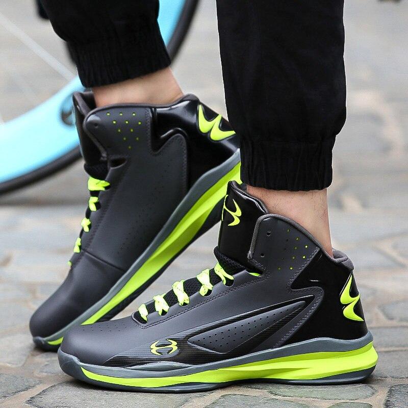 ... greece pria sepatu basket air redaman pria olahraga sneakers tinggi top  bernapas pelatih sepatu pria kulit f02ccea4e4