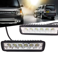 18W LED Bar Work Light Barra Led 12V Spotlight Flood Lamp Driving Fog Light Offroad For